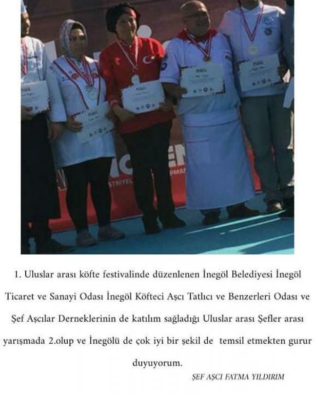 Uluslararası Köfte Festivali 2.lik Ödülü